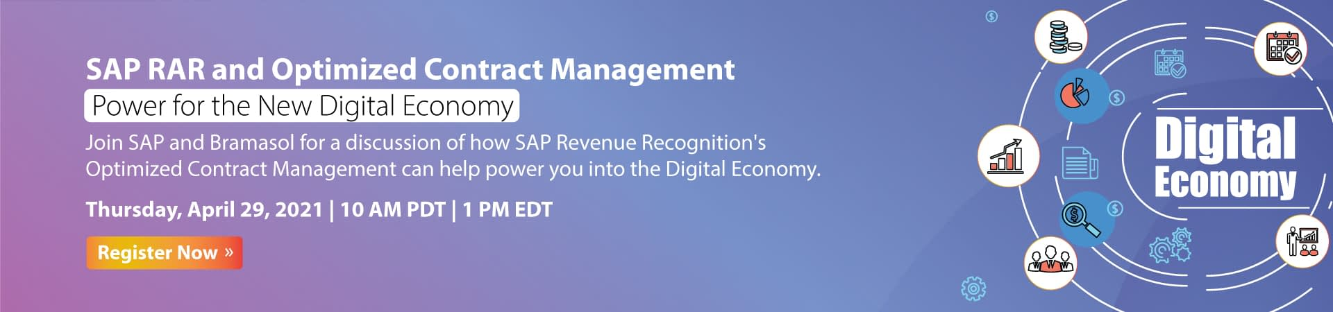 SAP RAR and Optimized Contract Management - Power for the New Digital Economy banner