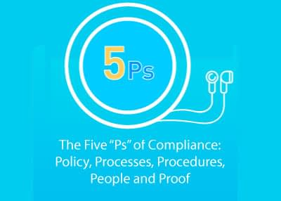 """The Five """"Ps"""" of Compliance: Policy, Processes, Procedures, People and Proof"""