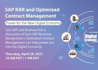 SAP RAR and Optimized Contract Management - Power for the New Digital Economy