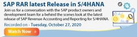 RevRec Disclosure and Analytics on SAP Analytics Cloud