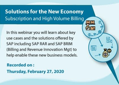 Solutions for the New Economy - Subscription and High Volume Billing