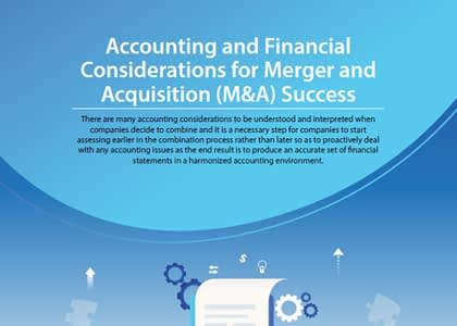Accounting and Financial Considerations for Merger and Acquisition (M&A) Success