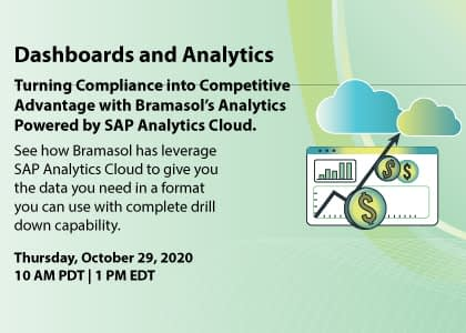 Turning Compliance into Competitive Advantage with Bramasol's Analytics Powered by SAP Analytics Cloud