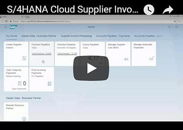 S/4HANA Cloud Supplier Invoice-to-Payment Demo